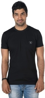 Jockey Radio Jockey Solid Men's Round Neck T-Shirt (Black)