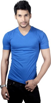 Spur V-neck Gym Vest Solid Men's V-neck T-Shirt