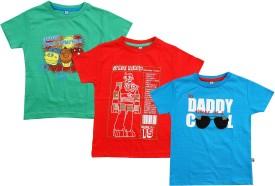 Punkster Solid Boy's Round Neck T-Shirt (Pack Of 3) - TSHEYJXYZ5QTMU9F