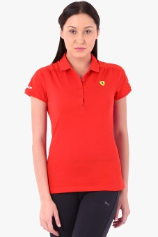 Puma Solid Women's Polo T-Shirt