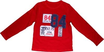 KishnMish Solid Boy's Round Neck T-Shirt