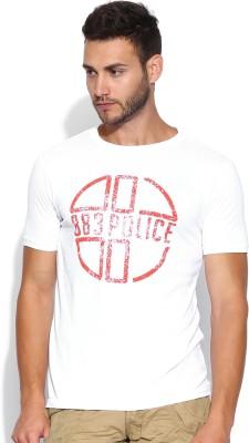 883 Police Graphic Print Men's Round Neck T-Shirt