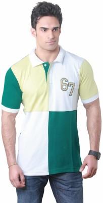 Hebe Printed Men's Polo Neck T-Shirt