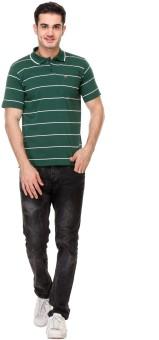 Rose Taylor Striped Men's Polo Orange T-Shirt