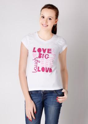 Hanes Printed Women's V-neck T-Shirt