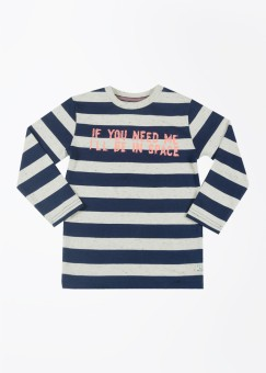 Sturdy Striped Boy's Round Neck T-Shirt