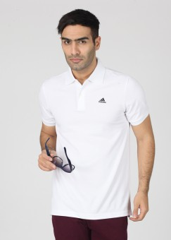 adidas Solid Men's Polo T-Shirt: T-Shirt