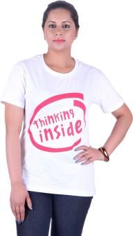 Vivid Bharti Cotton Rich Graphic Print Women's Round Neck T-Shirt