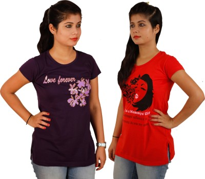 Tryd Printed Women,s Round Neck T-Shirt