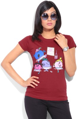 Mr. Men Little Miss Printed Women's Round Neck T-Shirt