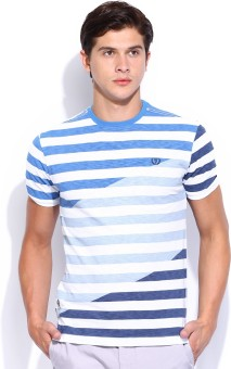 Van Heusen Sport Striped Men's Round Neck T-Shirt