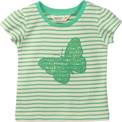 Beebay Striped Baby Girl's Round Neck T-Shirt