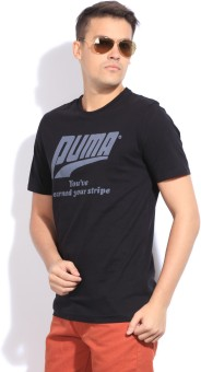 Puma Printed Men's Round Neck T-Shirt: T-Shirt