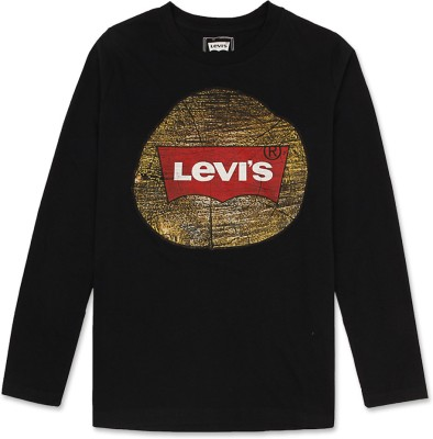 Levis Kids Printed Boy's Round Neck T-Shirt