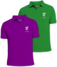 Elaborado Solid Men's Polo T-Shirt Pack of 2