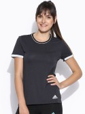Adidas Solid Womens Round Neck T-Shirt