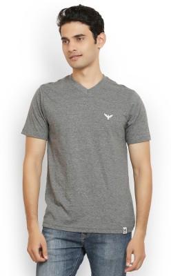 Police Solid Men's V-neck T-Shirt