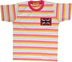Tick Lish Printed Striped Boy's Round Neck T-Shirt