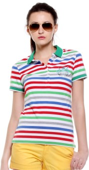 Tog T-Shirt Striped Women's Polo Neck T-Shirt