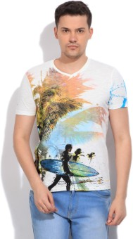 Killer Printed Men's White T-Shirt