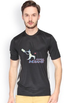 Campus Sutra Jersey Mumbai Indians Printed Men's Round Neck T-Shirt