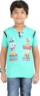 Libra Fashions Graphic Print Boy's Henley T-Shirt