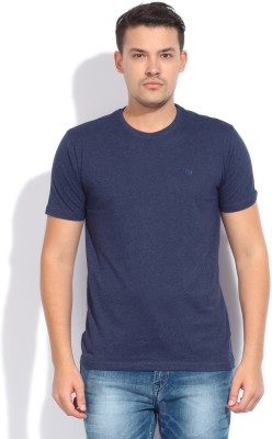 Bossini Bossini Solid Men's Round Neck T-Shirt (Blue)