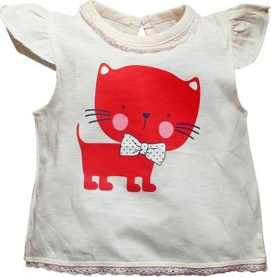 FS Mini Klub Printed Baby Girl's Round Neck T-Shirt