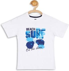 612 League Graphic Print Boy's Round Neck White T-Shirt