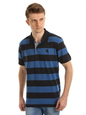 Arrow Striped Men's Polo T-Shirt