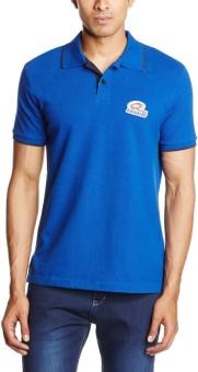 Mumbai Indians Solid Men's Polo T-Shirt