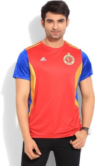 Adidas RCB FAN Solid Men's Round Neck T-Shirt