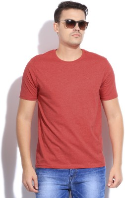Bossini Bossini Solid Men's Round Neck T-Shirt (Red)