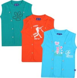 SPN Garments Printed Boy's Round Neck Green, Orange, Blue T-Shirt