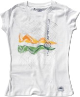 Tricolor Nation Graphic Print Women's Round Neck T-Shirt - TSHDV4B7AZPGMQGA