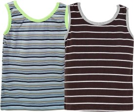 Parv Collections Striped Boy's Round Neck T-Shirt Pack Of 2