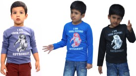 Bio Kid 3 IN 1 Printed Baby Boy's Round Neck T-Shirt (Pack Of 3) - TSHE4NDMC7CGR28P