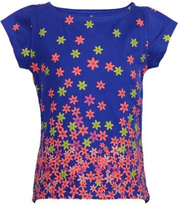 Ello Floral Print Girl's Boat Neck T-Shirt