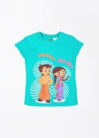 Chhota Bheem Printed Girl's Round Neck T-Shirt - TSHDU8U6TBEHJF8H
