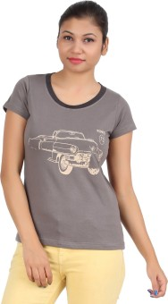 DK Clues GY Graphic Print Women's Round Neck T-Shirt