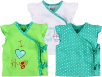 Baby Pure Printed Baby Girl's V-neck T-Shirt (Pack Of 3)