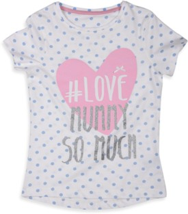 Mothercare Printed Girl's Round Neck White T-Shirt