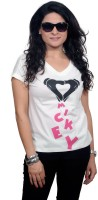 Golden Couture Graphic Print Women's V-neck T-Shirt - TSHEYRFBJARBG34H