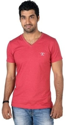 Jockey Radio Jockey Solid Men's V-Neck T-Shirt (Red)