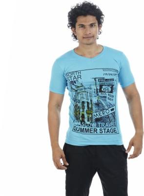 Adventure Printed Men's V-neck T-Shirt