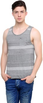 Camino Striped Men's Scoop Neck T-Shirt
