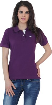 The Cotton Company Luxury Solid Women's Polo Neck T-Shirt - TSHE4FP9G8RTQEFF