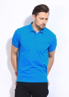 Indian Terrain Solid Men's Polo Neck T-Shirt