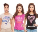 TSG Breeze Printed Women's Round Neck T-Shirt - Pack Of 3 - TSHDRJBN6V3S7GGZ