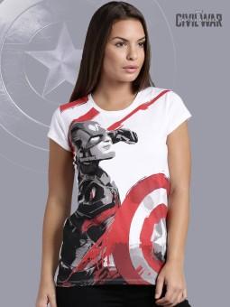 Kook N Keech Marvel Graphic Print Women's Round Neck T-Shirt - TSHEGFJFCU5HFZGY